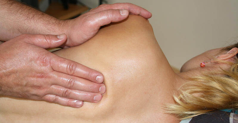 Die Bereiche des menschlichen Rückens