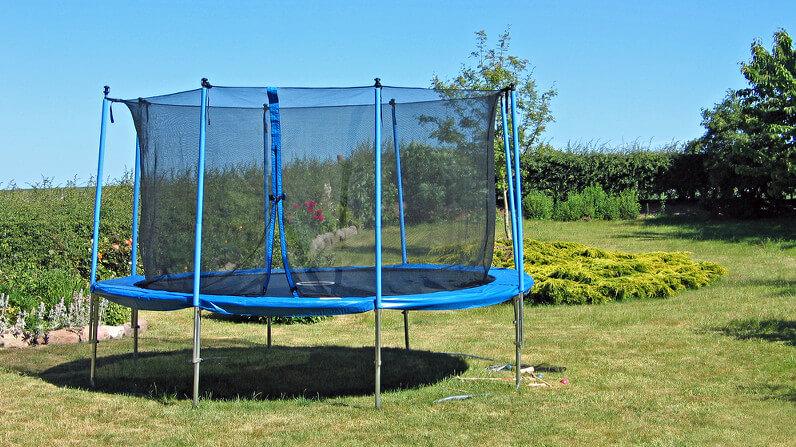 Trampolin mit Netz für den Garten